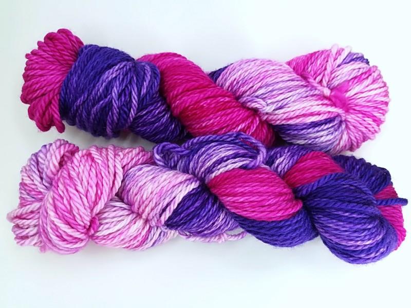 Knitting me softly - Lilas y grosellas