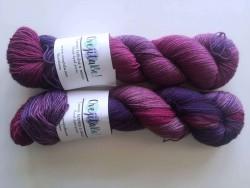 Yak Attack Sock - Lilacs and gooseberries